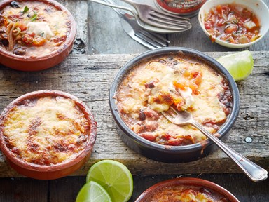 Mexican bean and cheese pies