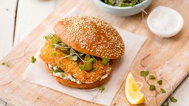 Classic hoki burger