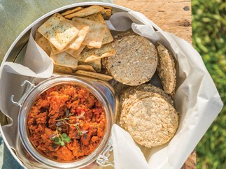 Chorizo, coriander and lime spread