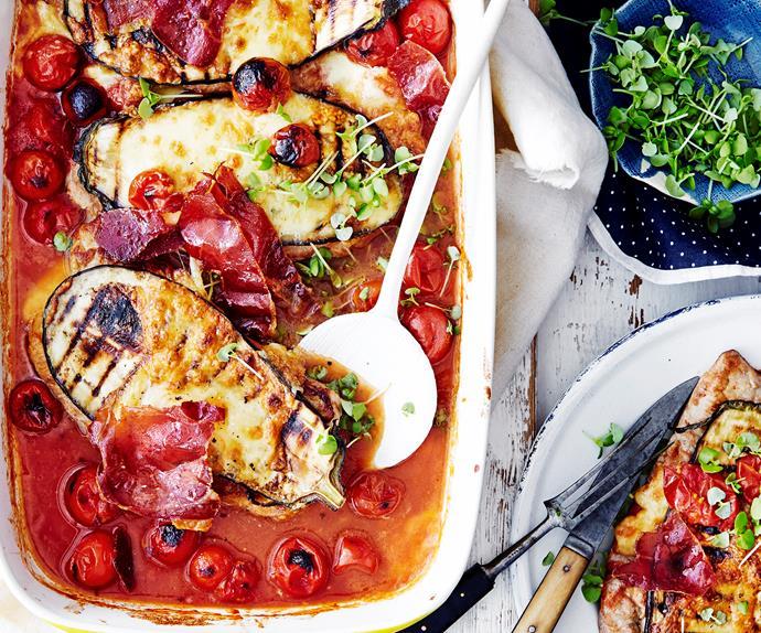 Pork parmigiana bake
