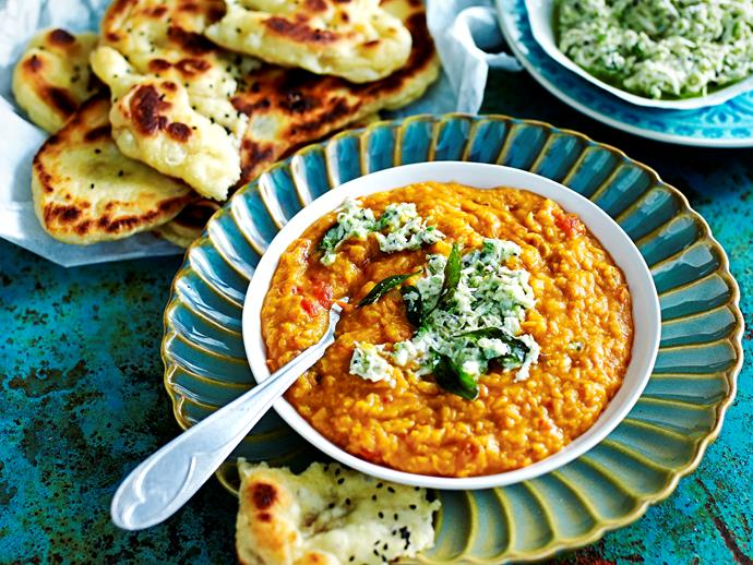 """**[Red dhal with coconut curry](https://www.womensweeklyfood.com.au/recipes/red-dhal-with-coconut-curry-1667