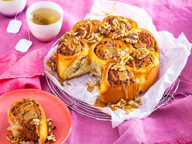 Sticky caramel walnut scrolls