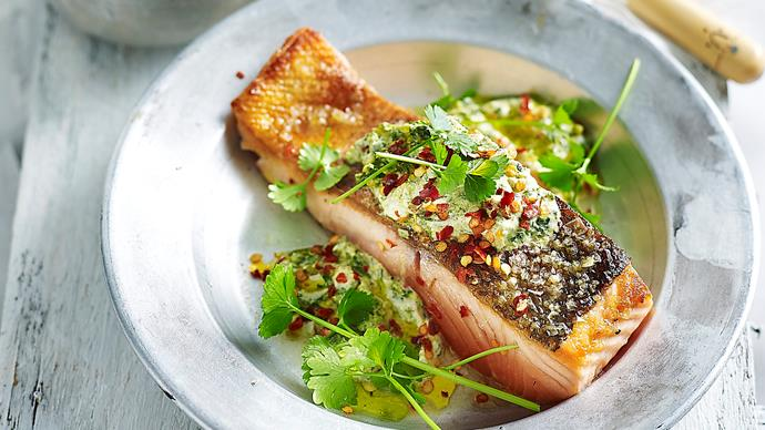 How to cook salmon on a pan