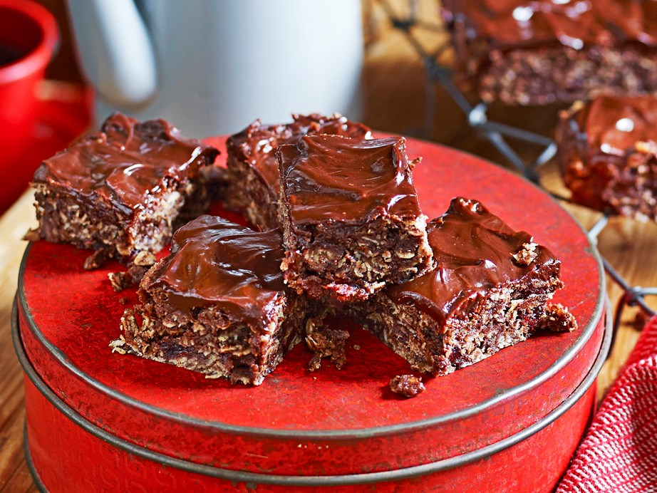 "These **[chocolate, oat and cranberry brownies](https://www.womensweeklyfood.com.au/recipes/chocolate-oat-and-cranberry-brownies-1677|target=""_blank"")** are a jazzed-up and a fibre-packed versions of the classic."
