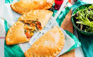 Bolognese and egg calzone