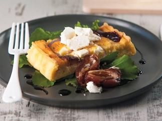 Feta and date tart