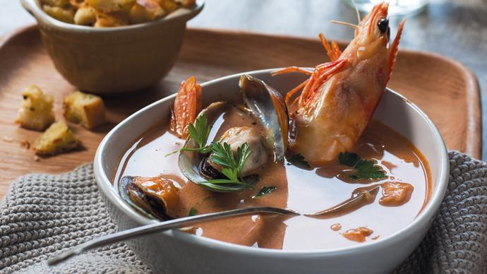 Prawn and mussel bisque