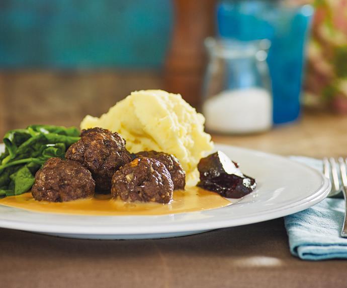 Classic Swedish beef meatballs
