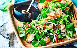 hot smoked salmon salad recipe