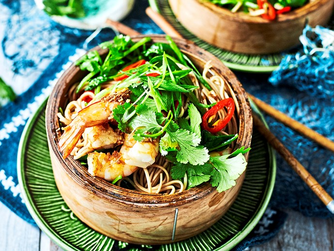 "Try it: [soba noodle salad with fried prawns](http://www.foodtolove.com.au/recipes/soba-noodle-salad-with-fried-prawns-32642|target=""_blank"")."