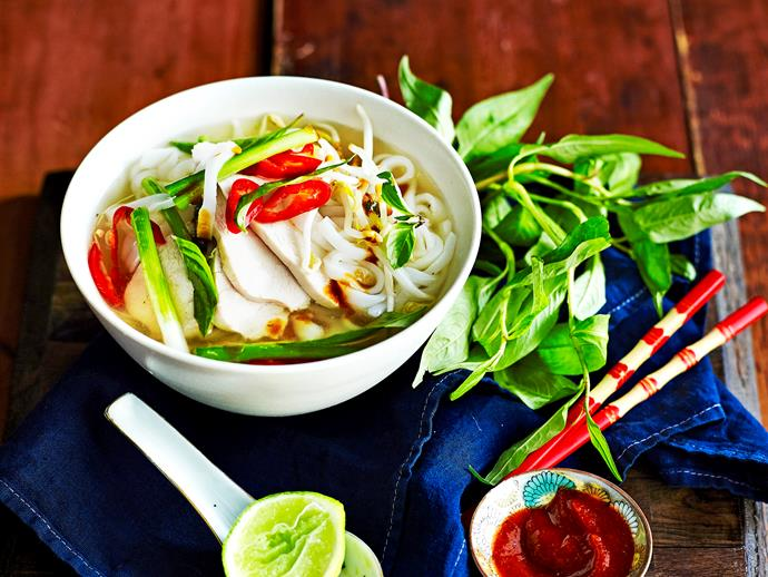 "Recreate this [traditional Vietnamese soup](https://www.womensweeklyfood.com.au/recipes/vietnamese-chicken-pho-recipe-1688|target=""_blank"") at home with our authentic, easy-to-follow recipe. First, make a beautifully fragrant stock from scratch and use as a base for your delicate rice noodles and tender chicken."