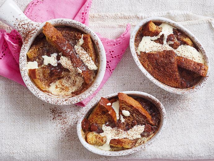 """**[Milk chocolate bread and butter pudding](https://www.womensweeklyfood.com.au/recipes/milk-chocolate-bread-and-butter-pudding-recipe-1697