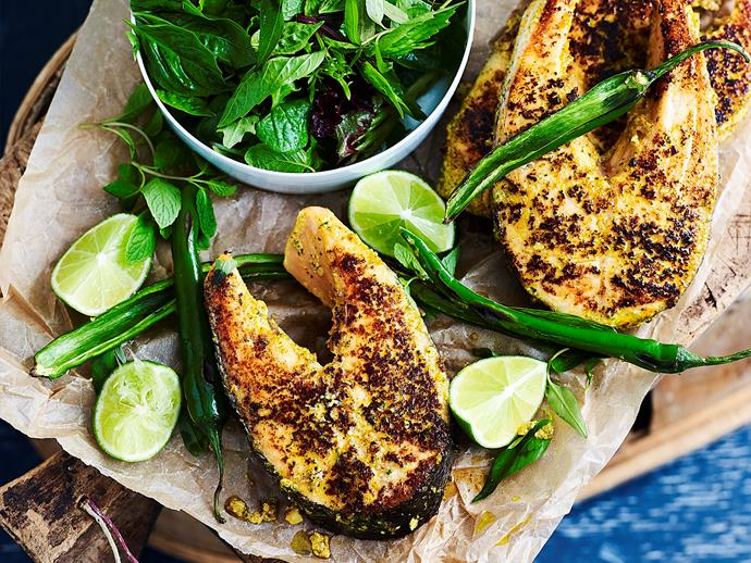 "**[Thai-spiced salmon cutlets](https://www.womensweeklyfood.com.au/recipes/thai-marinated-salmon-cutlets-1709|target=""_blank"")**  For a deliciously different way to cook your salmon cutlets, try serving it with our creamy spiced Thai marinade. It's packed full of flavour, and makes eating seafood more seafood easy."