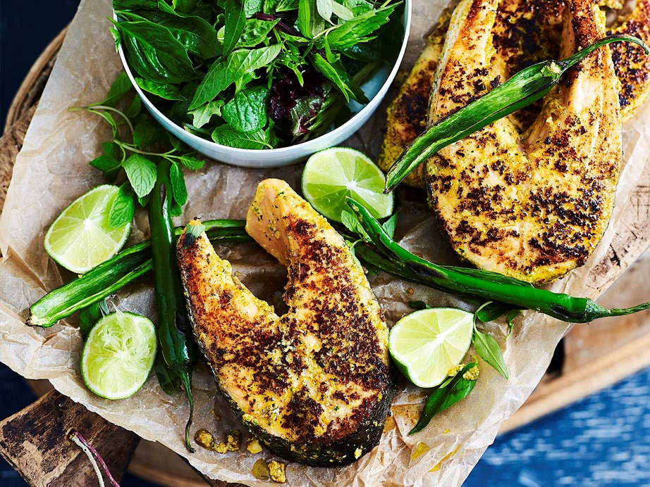 "**[Thai-spiced salmon cutlets](https://www.womensweeklyfood.com.au/recipes/thai-marinated-salmon-cutlets-1709|target=""_blank"")**  Looking for a deliciously different way to cook your salmon cutlets? This vibrant Thai version may just be it."