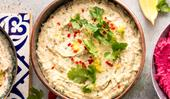 Coriander, lemon and chilli hummus