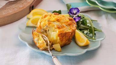 Whitebait and potato frittatas