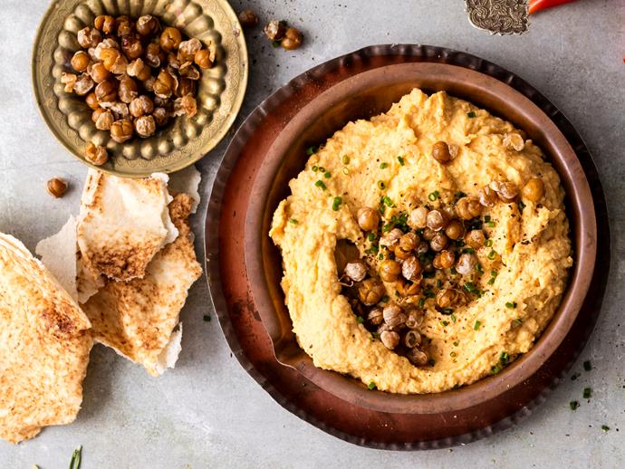 """**[Spiced pumpkin hummus](https://www.womensweeklyfood.com.au/recipes/spiced-pumpkin-hummus-1719