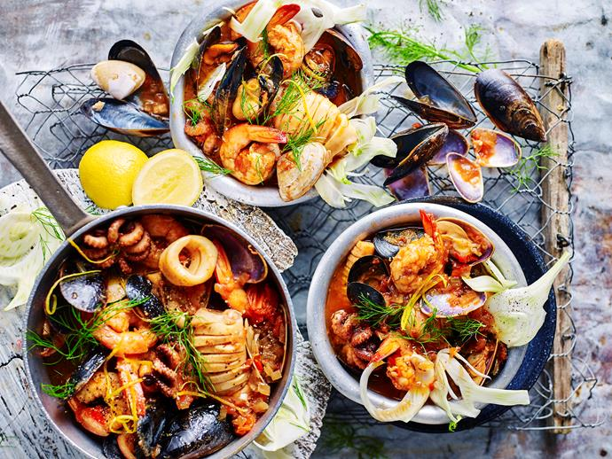 "**[Sustainable seafood stew](https://www.womensweeklyfood.com.au/recipes/sustainable-seafood-stew-recipe-1722|target=""_blank"")**  This hearty and warming seafood stew recipe from The Australian Women's Weekly's ['The Sustainable Cookbook'](https://www.magshop.com.au/the-australian-womens-weekly-the-sustainable-cookbook
