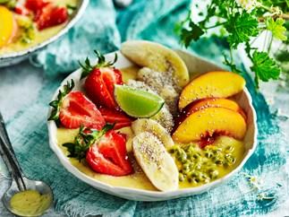 Carmen Miranda mango smoothie bowl