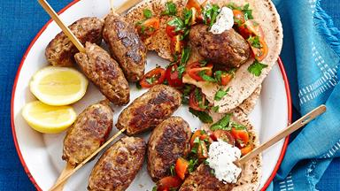 Spiced lamb and couscous koftas