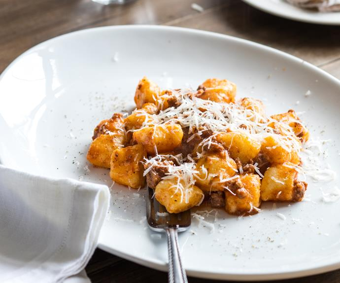 Potato gnocchi with bolognese sauce