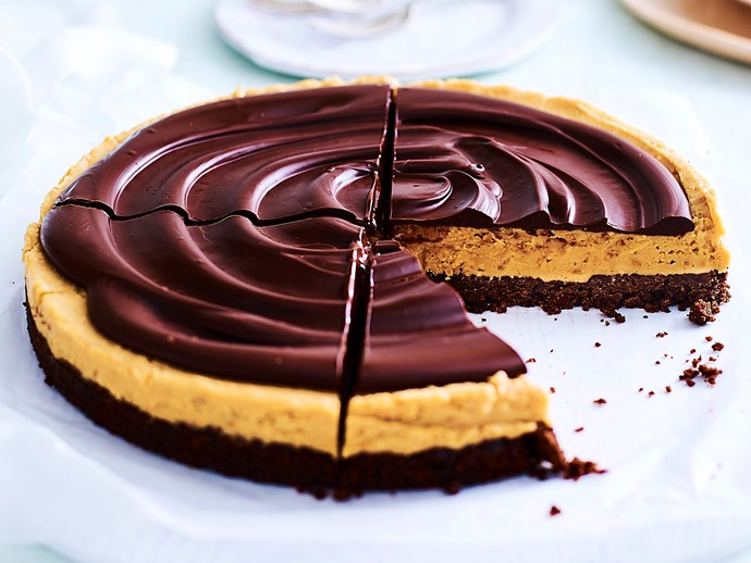 No-bake peanut butter and chocolate pie