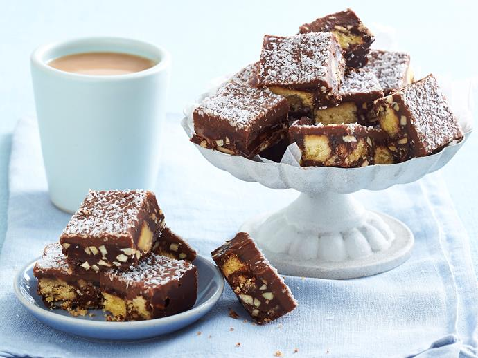 """**[Chocolate hedgehog slice with ganache](https://www.womensweeklyfood.com.au/recipes/chocolate-hedgehog-slice-with-ganache-1744