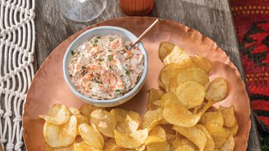 Hot-smoked salmon and herb dip