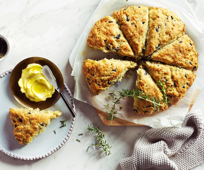 Olive and rosemary scones