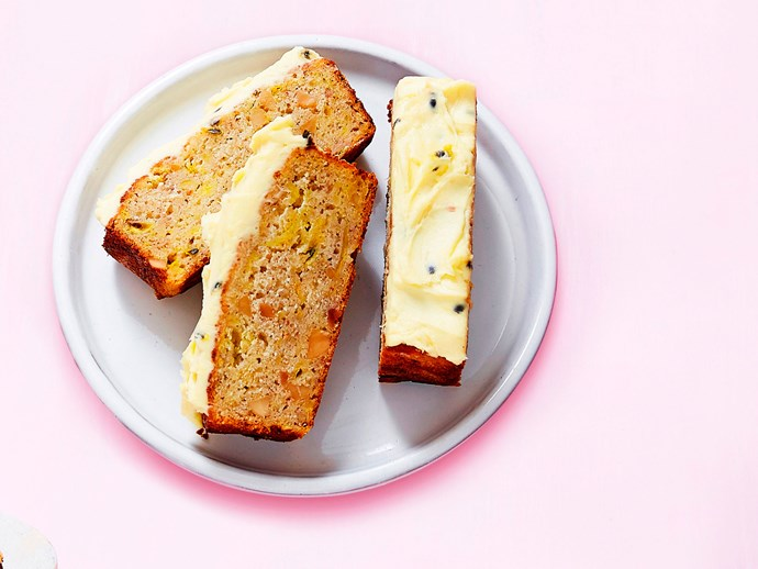 Banana and passionfruit bread