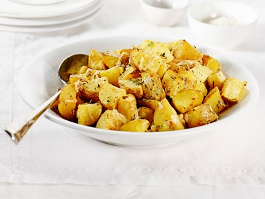 Parmesan garlic potato chunks