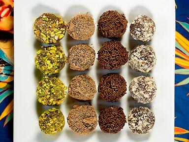 Brigadeiros (condensed milk truffles)