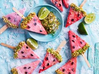 Frozen watermelon margarita wedges
