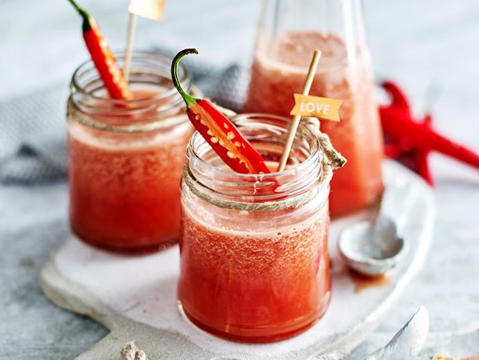 """Inspired by ingredients long-thought to be natural aphrodisiacs, this alcohol-free [love potion juice](https://www.womensweeklyfood.com.au/recipes/love-potion-juice-1771