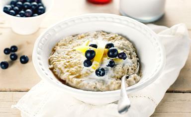 Coconut steel-cut oats porridge