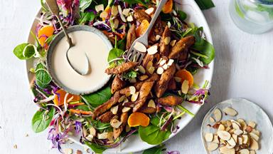 Mandarin chicken salad with toasted almonds
