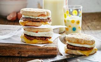 Homemade sausage and egg mockmuffin
