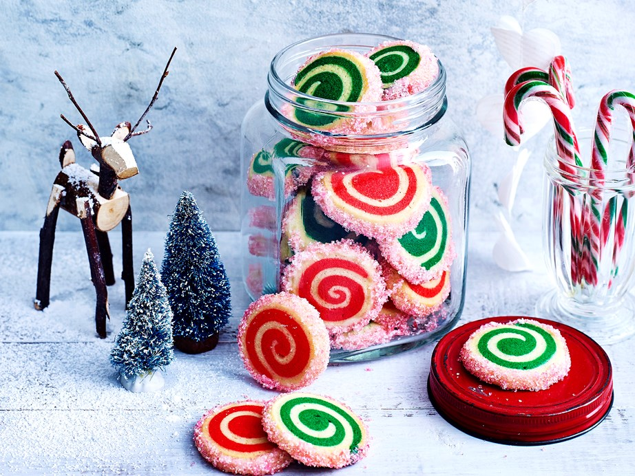 "**[Christmas pinwheel sugar cookies](https://www.womensweeklyfood.com.au/recipes/christmas-pinwheel-biscuits-1763|target=""_blank"")** These adorable red and green swirled biscuits make the ultimate edible Christmas treat. Just watch your loved ones' faces light up as you hand them a parcel of these little pinwheels - pure joy."