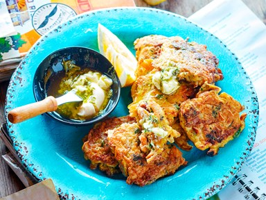 Classic mussel fritters