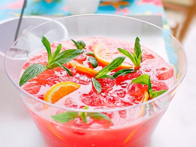Iced watermelon and ginger zinger punch