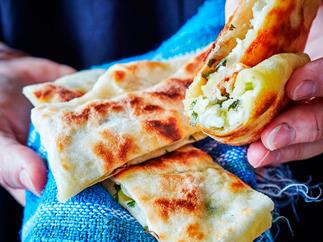 Potato and parsley gozleme