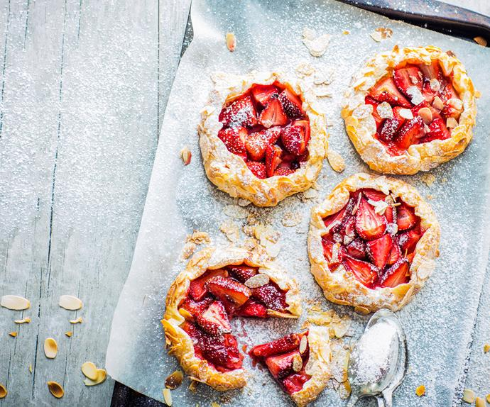 Strawberry gallettes