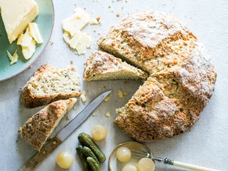Courgette, cheddar and thyme soda bread