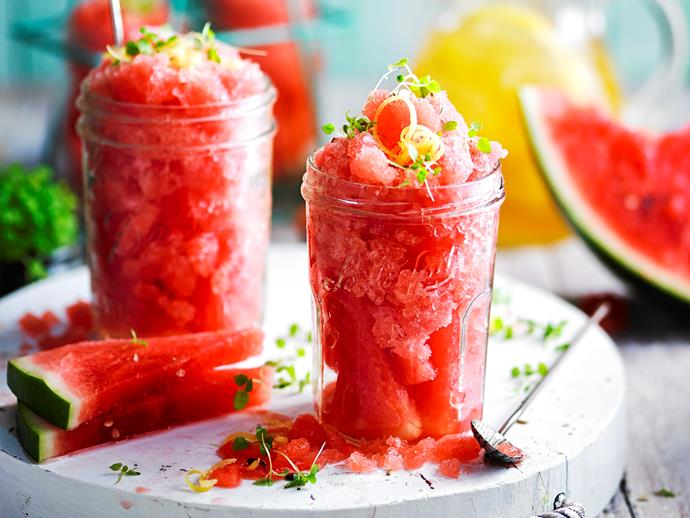 "**[Watermelon and lemon tea granita](https://www.womensweeklyfood.com.au/recipes/watermelon-and-lemon-tea-granita-1799|target=""_blank"")**  While traditional granitas and sorbets are packed full of sugar, this refreshing melon and citrus recipe from The Australian Women's Weekly's ['Sugar-Free' cookbook](https://www.magshop.com.au/sugar-free