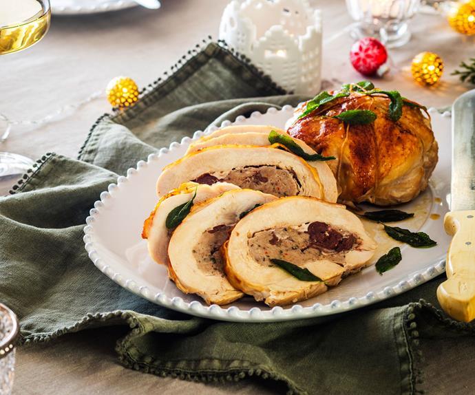 Pincushion turkey roast