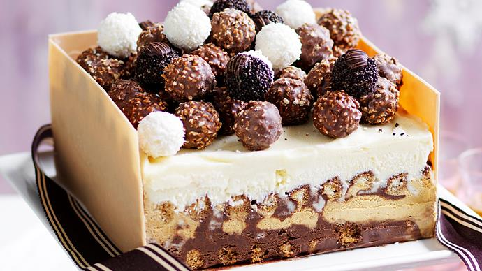 Tiramisu ice-cream box cake