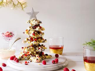 White chocolate and pistachio Christmas tree