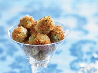 Parmesan and parsley fried green olives