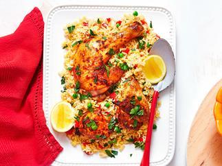 Smoky paprika chicken with saffron rice