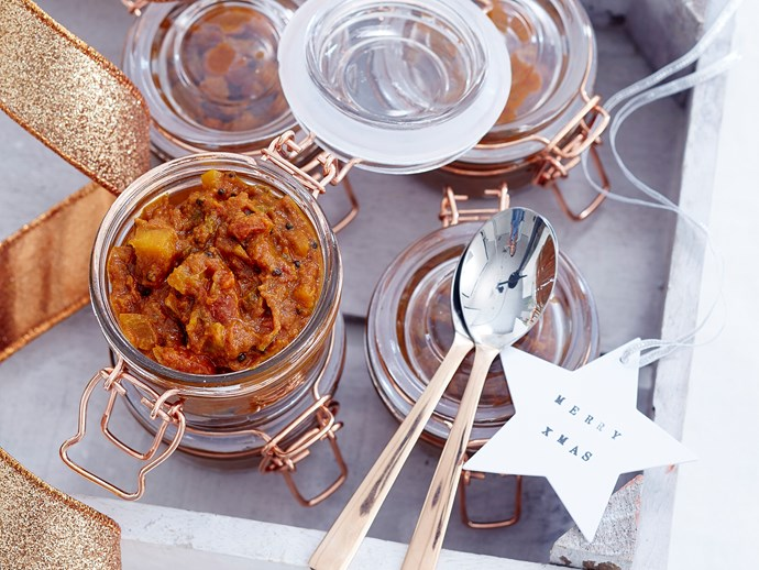 tomato kasundi served in jars